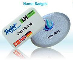 Aluminium name badge with EPOXY Coating