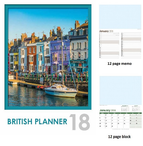 British Planner Optima Wall 12 leaf.