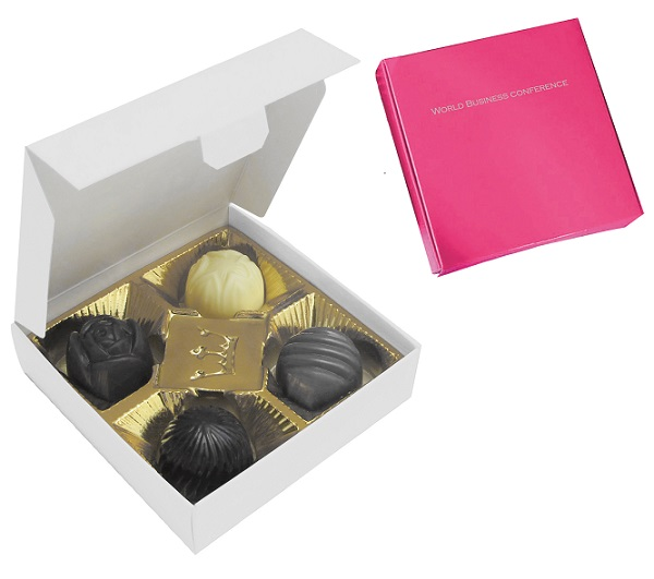 Box of 4 chocolates with different fillings, 49g