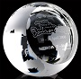 Crystal Globe with Flat face