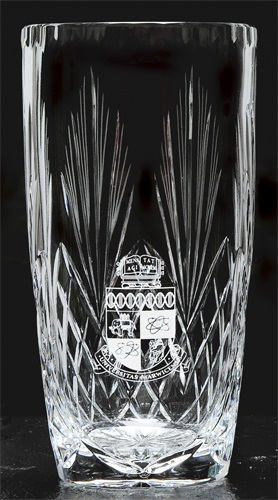 Cut crystal vase