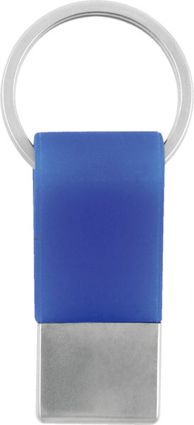 BLUE ONLY - Silicon keyring with metal tag - Clearance Item